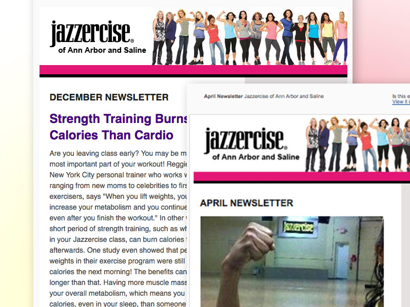 Jazzercise Email Campaign and Social Media
