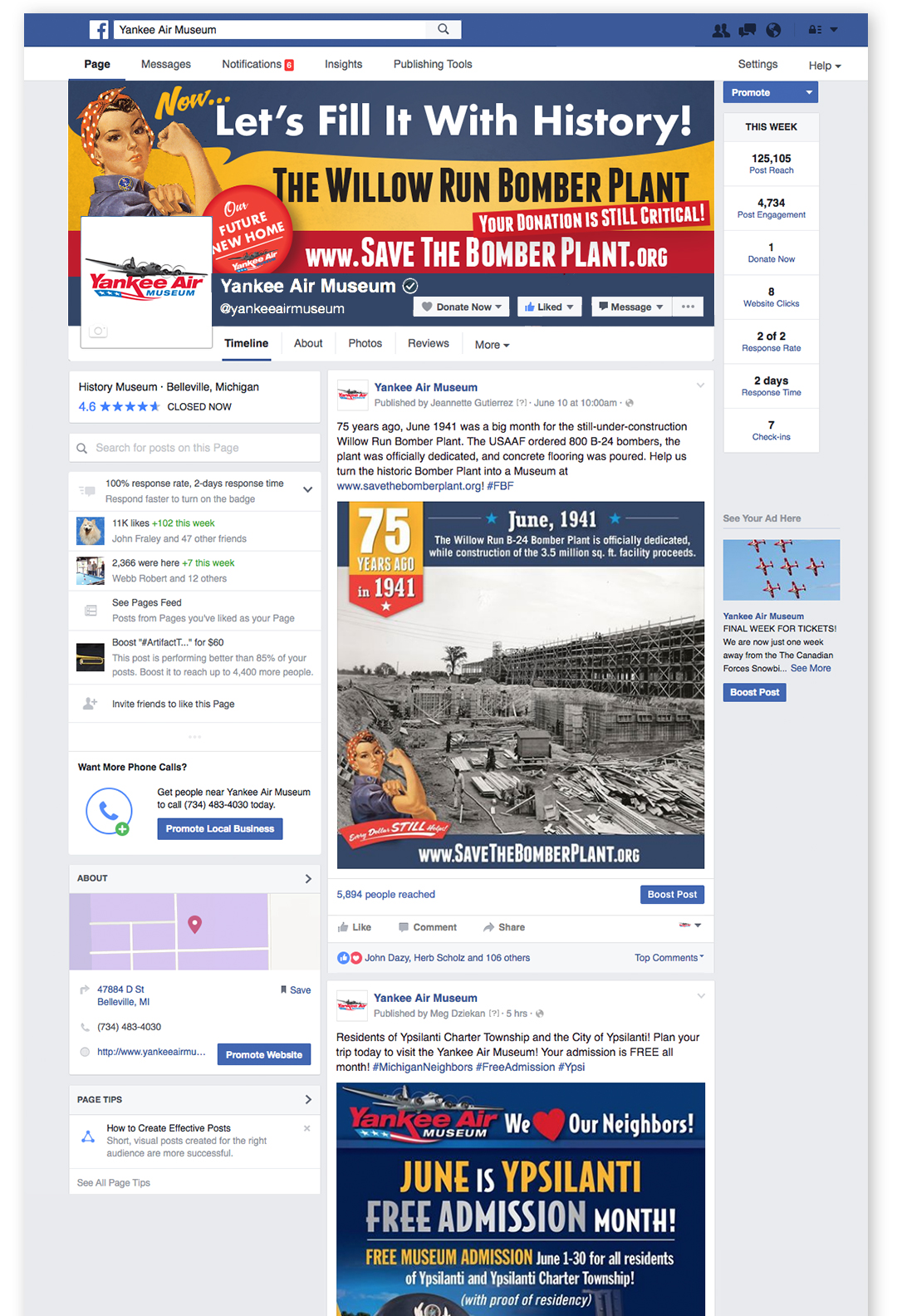 Save The Bomber Plant Facebook