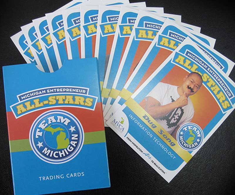 Bidlack Creative Group creates entrepreneur trading cards for Michigan Venture Capital Association