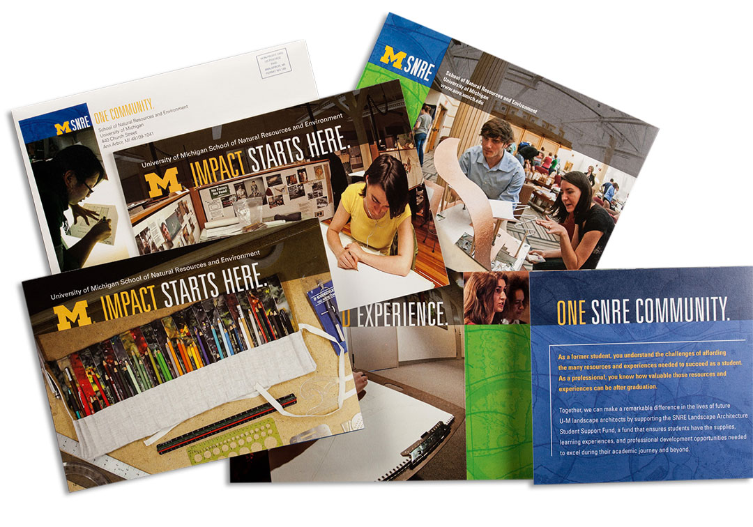 Direct Mail Campaign for U-M SNRE