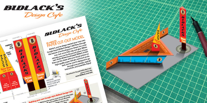 Bidlack Design Cafe – DIY Paper Model