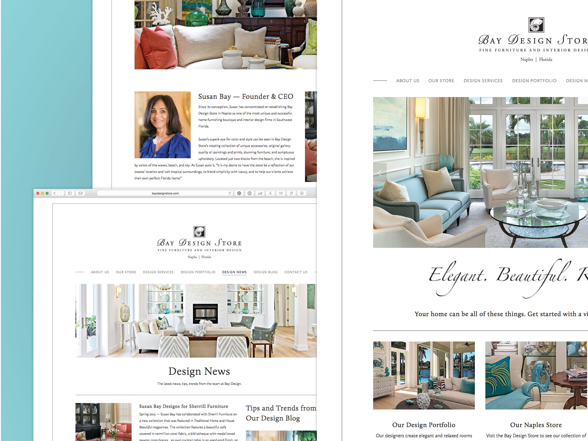 Bay Design Store Website Bidlack Creative Group