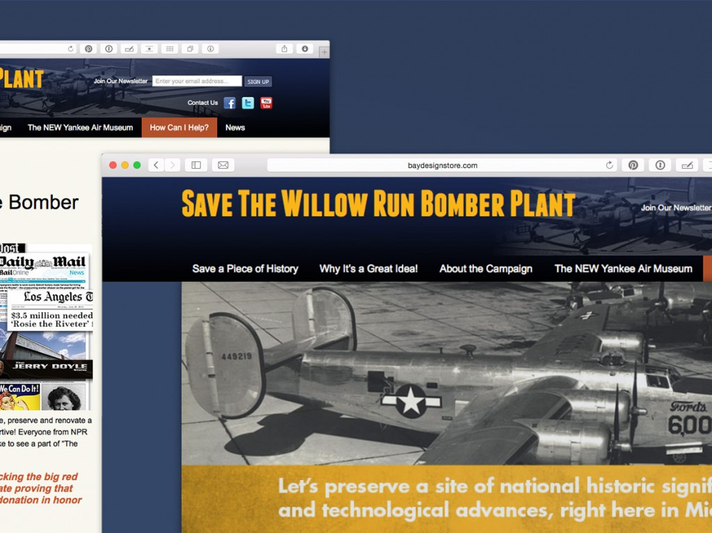 Save The Bomber Plant Website