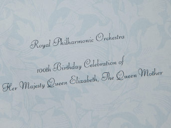 Royal Philharmonic Concert for the Queen Mother