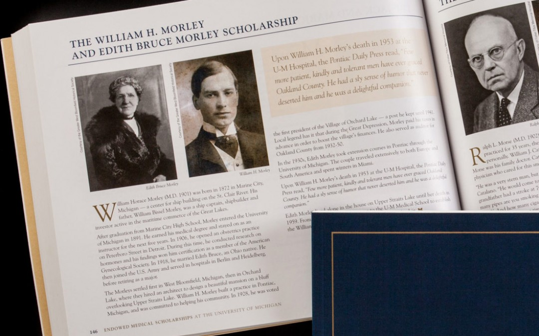 University of Michigan Health System Endowed Scholarships Book