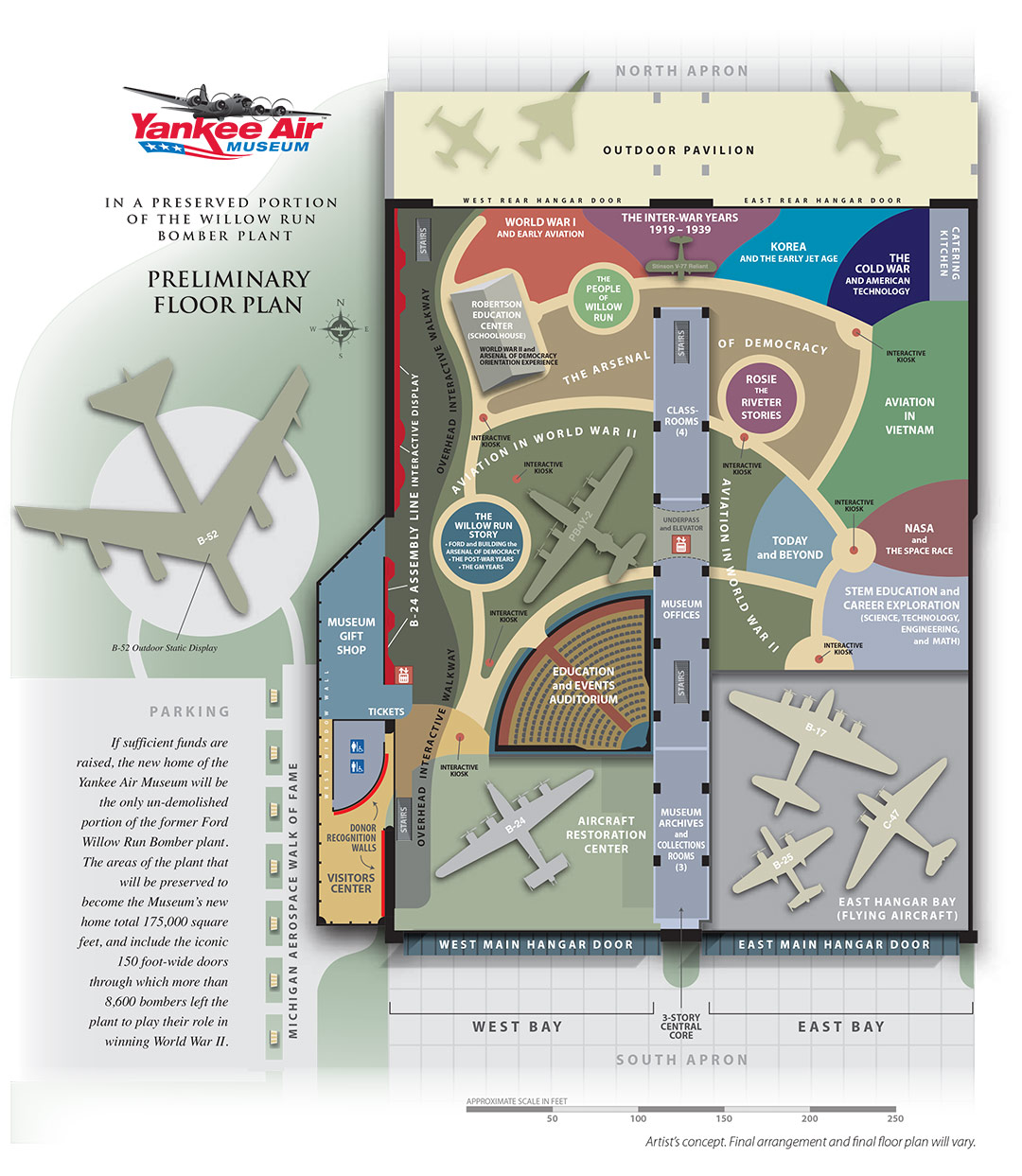 Yankee Air Museum Exhibit Floor Plan