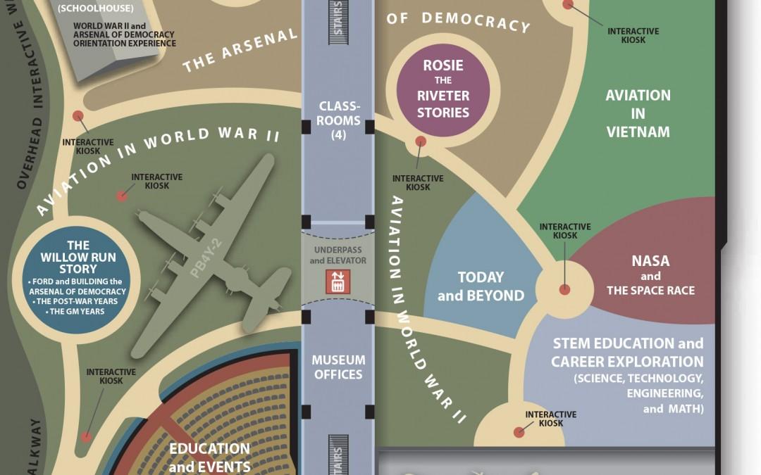 Yankee Air Museum Exhibit Floor Plan