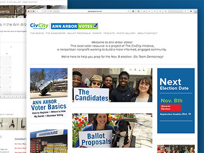 Ann Arbor Votes Website
