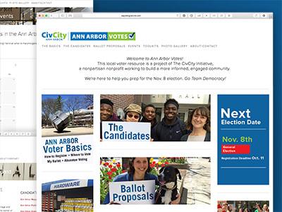 Ann Arbor Votes Website