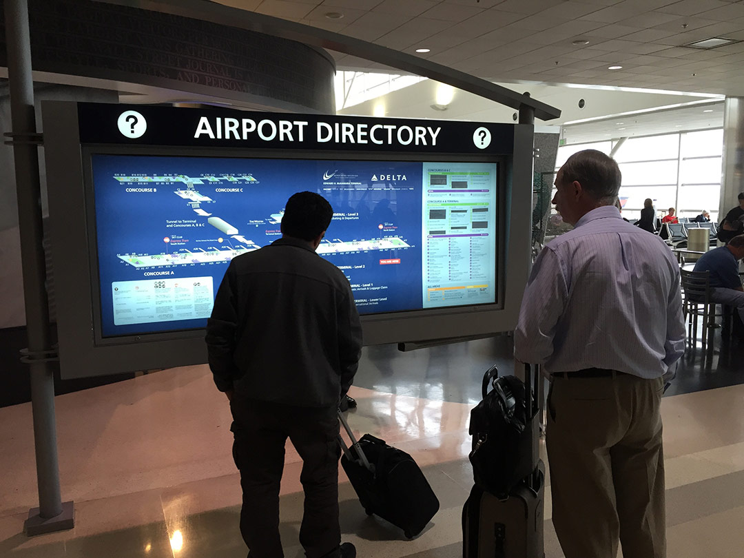 Detroit Metropolitan Airport and Delta Airlines Wayfinding Graphics