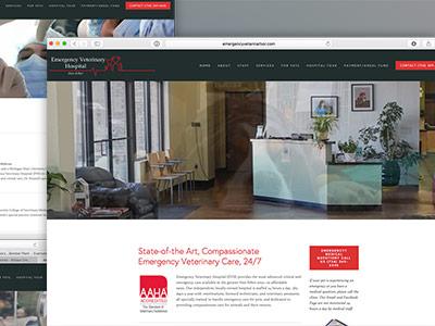 Emergency Veterinary Hospital Website