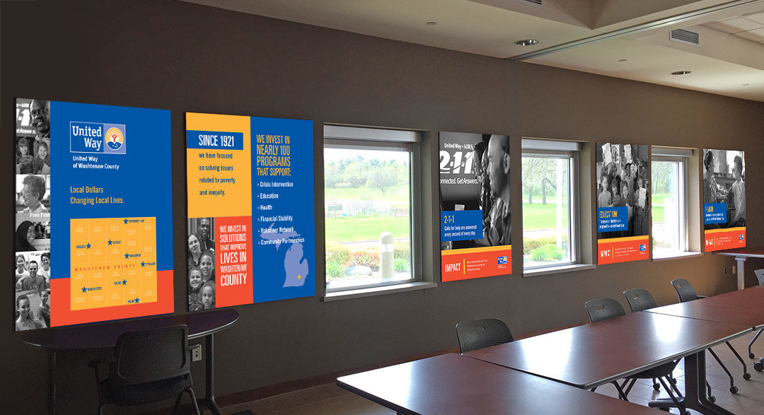 United Way of Washtenaw County Conference Room Graphics