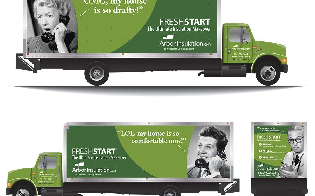 Arbor Insulation Truck Graphics